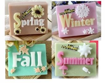 Spring Summer Fall Winter Soap Mold Mould Silicone Mold Flexible Mold Cake Mold