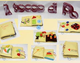Quiet book handmade for kids 1-3 years