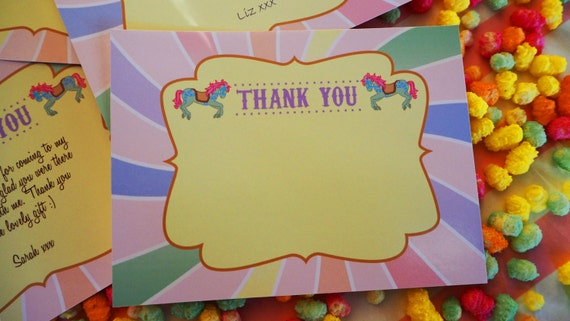 CARNIVAL- Fair Ground - Carousel - Pre Filled - Thank You Note - Birthday - Shower - PRINTABLE - Pdf - Instant Download
