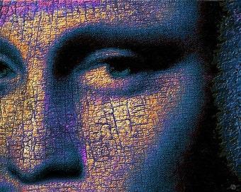 Mona Lisa Eyes 2 - Giclee Print