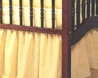 Solid Portable Crib Skirt