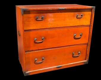 Authentic Meiji Era Japanese Tansu (Chest of Drawers)
