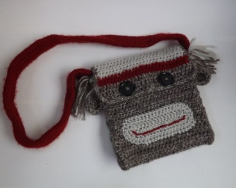 Child's Sock Monkey Purse