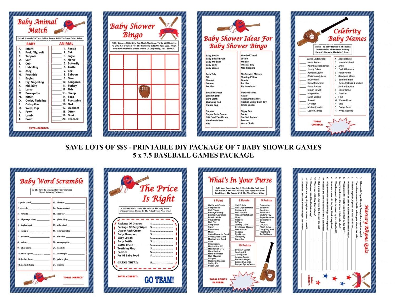 Baseball Baby Shower Games Baseball Theme Baby Games