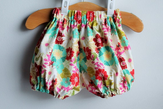 Infant Bloomers Diaper Cover Infant Shorts by EllieCourtDesigns