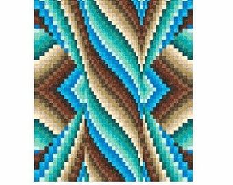 Spiral Burst Bargello Quilt Top Pattern PDF