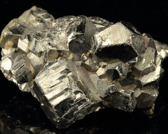 Pyritohedral Pyrite Crystal Cluster