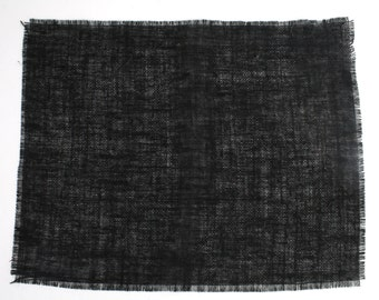 "Black Burlap Placemats 13""x17"" (Pack of 6) fringe, fine weave, rustic country weddings, home decor.Available in other colors(BF-P20)"