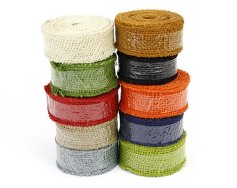 "1.5"" by 10 yards burlap ribbon, great for rustic decorations, gift wrapping, country look. Available in other colors. (BRH15-xx)"
