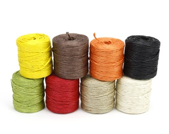 75 yards Burlap twine or burlap rope.  Perfect for crafts. DIY. Also available in different colors (BR02-xx)