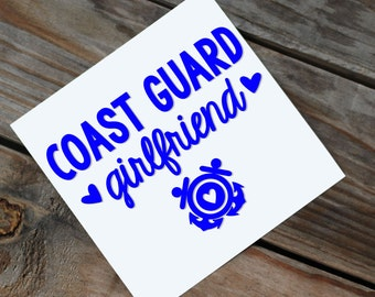 Coast Guard Girlfriend/Wife/Mom Car Decal