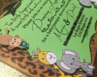 Safari Themed Invitations                    Set of 12