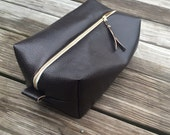 Vegan Leather Toiletry bag
