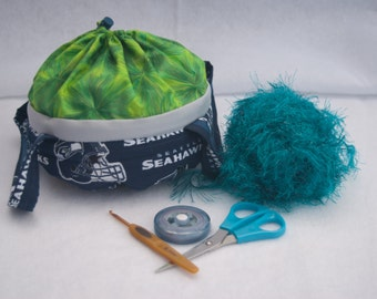 Seattle Seahawks Small Project Bag/Purse/Basket