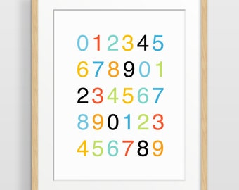 Nursery Decor, Counting Poster, Typography Art, Nursery Print, Kids Wall Art, Gender Neutral