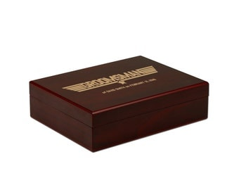 Personalized Gift Box, Simple Custom Box, Memento Box, Groomsman Gift Box [WED-002]
