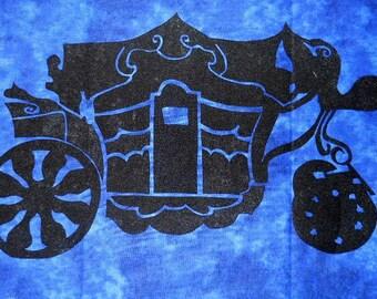 Elegant Stage Coach Carriage Quilt Applique Pattern Design