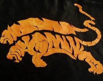 Easy Beautiful Tiger Pair 1 Quilt Applique Pattern Design