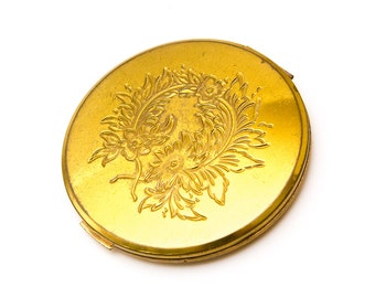 Vintage Dorset Compact // Mid-Century Gold Compact // Vintage Powder Compact // Dorset Gold Powder Compact