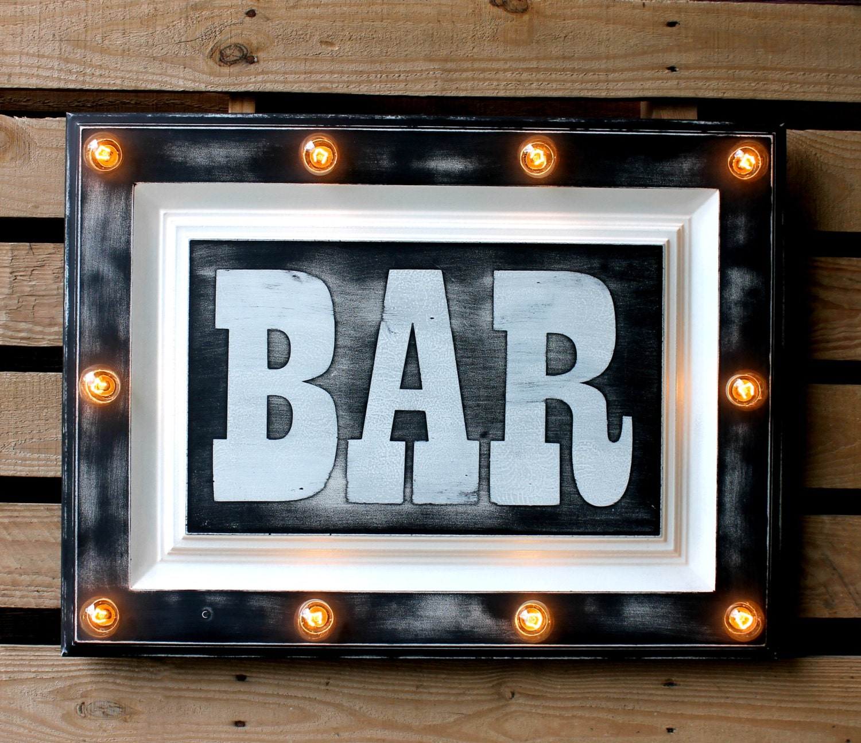 Light Up Kitchen Signs: Bar Marquee Sign Light Up Kitchen Bar Restaurant Man