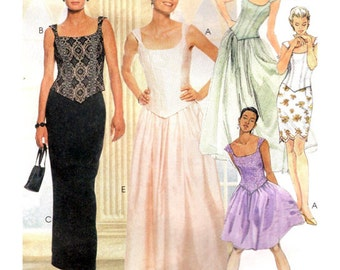 McCall's Sewing Pattern 9124 Misses' lined top, skirt in two lengths Size:  B  8-10-12  Uncut