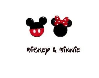 Mickey Minnie Earrings - Disney Earrings
