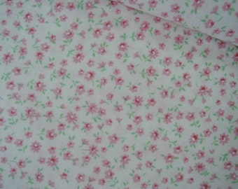 "Half Yard of Lecien Old New 30's Collection Fabric Tiny Floral on Off White Background.  Approx 18"" x 44"" Made in Japan"
