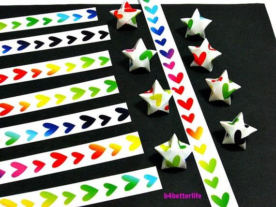 250 strips of diy origami lucky stars paper folding kit 26cm for Diy lucky stars