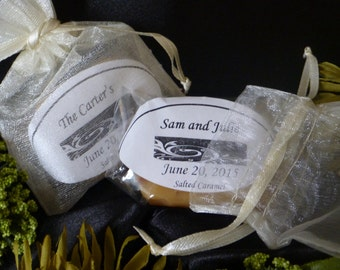 Custom Wedding Caramels / Party Favors ~ Personlized ~ Caramels extra creamy, old fashioned, Soft homemade caramels
