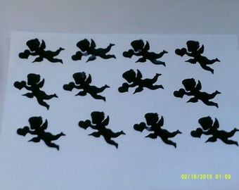 30 x cupid black stickers - great fun for children - will stick to lots of things love