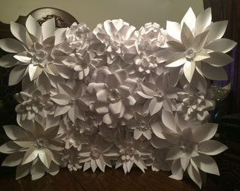 Paper Flower Wall Photo or Wedding Backdrop