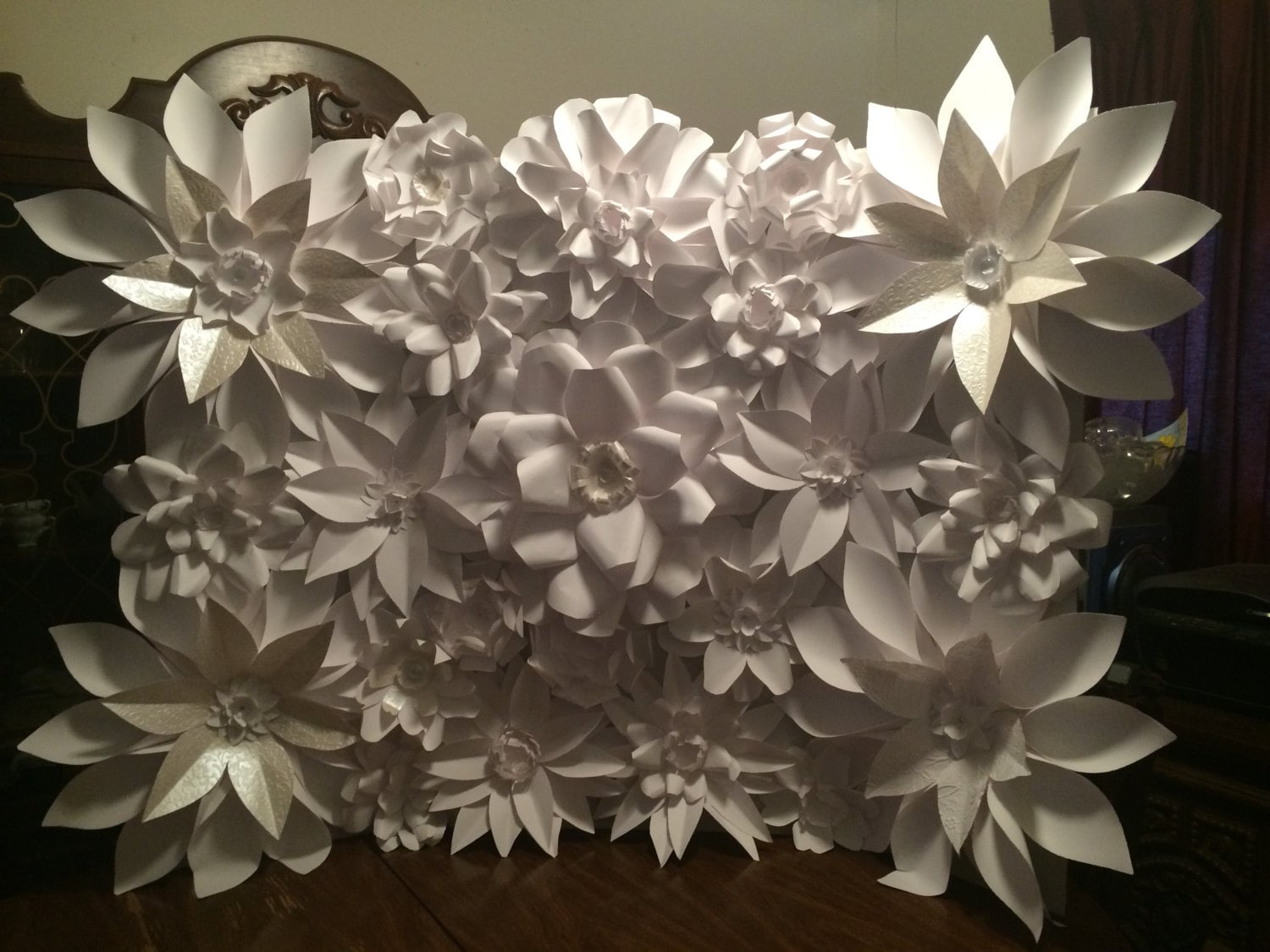 Paper Flower Wall or Wedding Backdrop