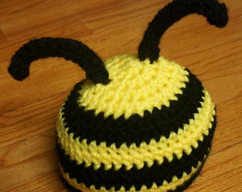Crocheted Bumble Bee Hat
