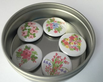 Spring Flowers Magnet Set