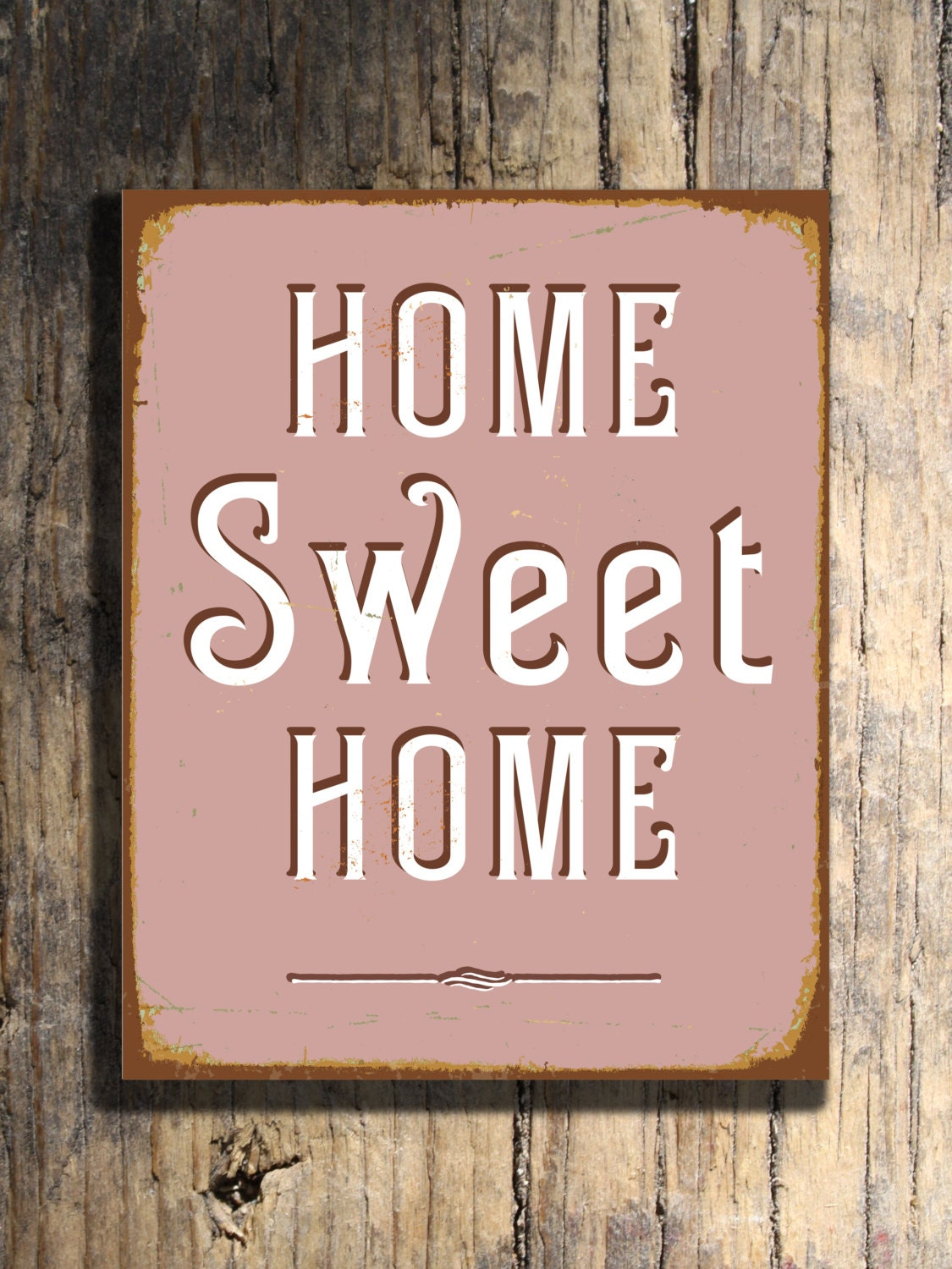 vintage home sweet home sign. Black Bedroom Furniture Sets. Home Design Ideas