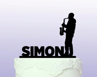 Personalised Saxophonist Cake Topper