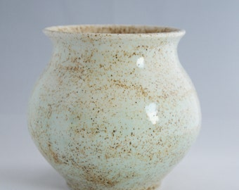 SALE Blue Speckled Ceramic Vase