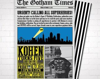 DIY Batman Birthday Party Invitation