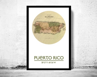 PUERTO RICO - city poster - city map poster print