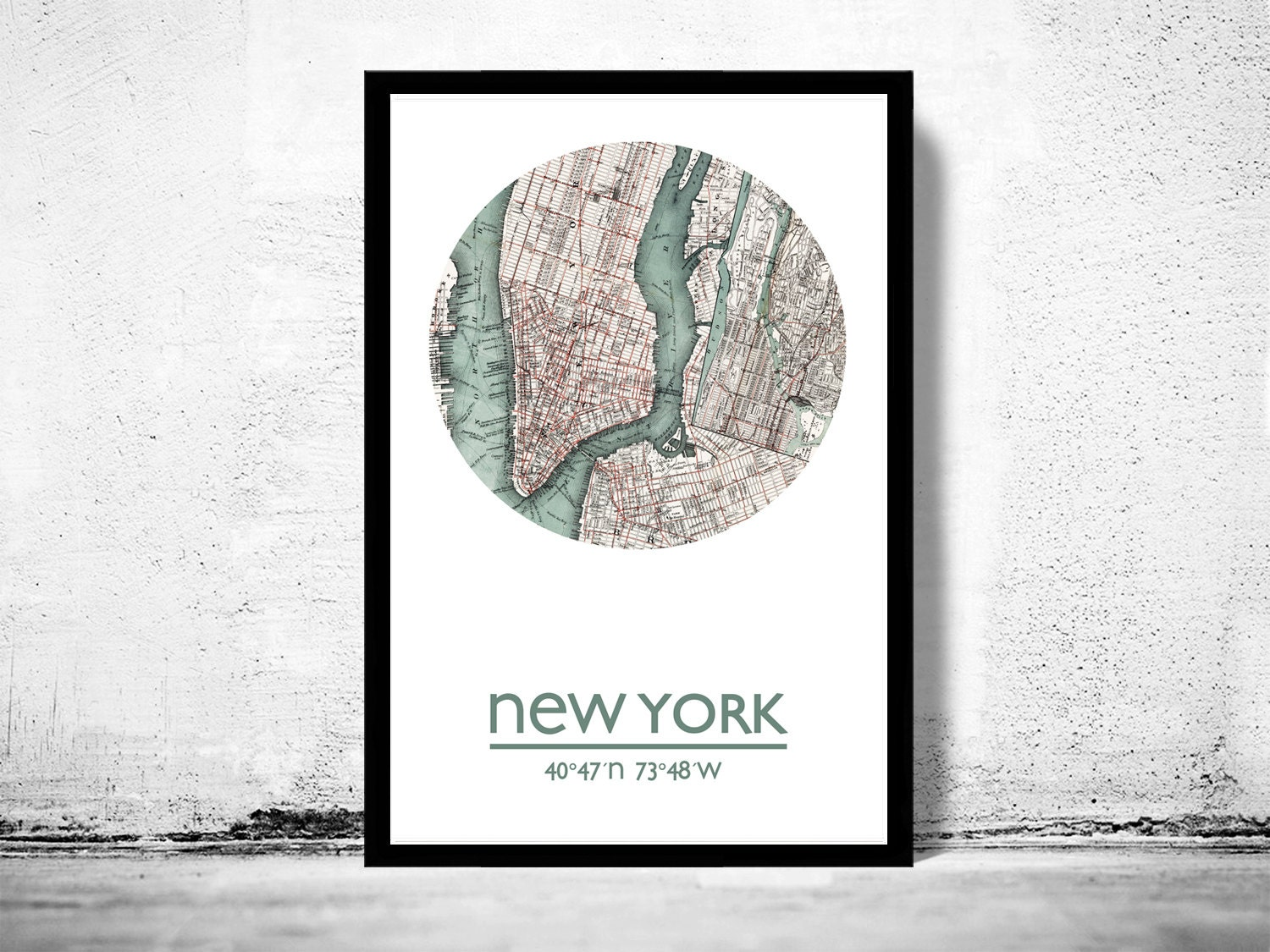 new york city poster city map poster print. Black Bedroom Furniture Sets. Home Design Ideas