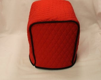 2 Slice Toaster Cover M.T.O. - Red/Black Trim)- 10 Fabrics 13+ Trim Colors - Designer Style - Gift under 30