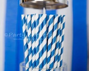 Straws Navy and White Stripes Paper Straws, Nautical Party Straws, Boy Party Straws, Wedding Straws, Shower Straws, Birthday Party Straws