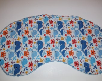 Nautical burp cloth, oversize contour burp cloth, sailor whale and crab designer burpie