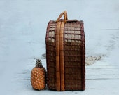 Rustic style basket picnic basket fabulous harvest. for picnics for love or for unforgettable moments with family