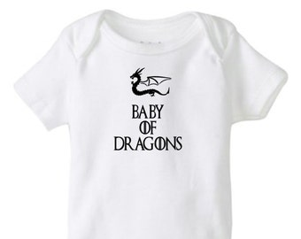 game of thrones onesie, baby of dragons onesie