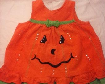 Pumpkin Little Girl Dress