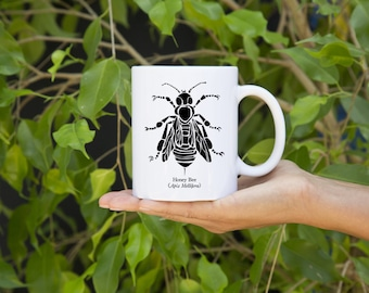 KillerBeeMoto:  Beekeepers U.S. Made Coffee Mug Apis Mellifera Honey Bee Graphic