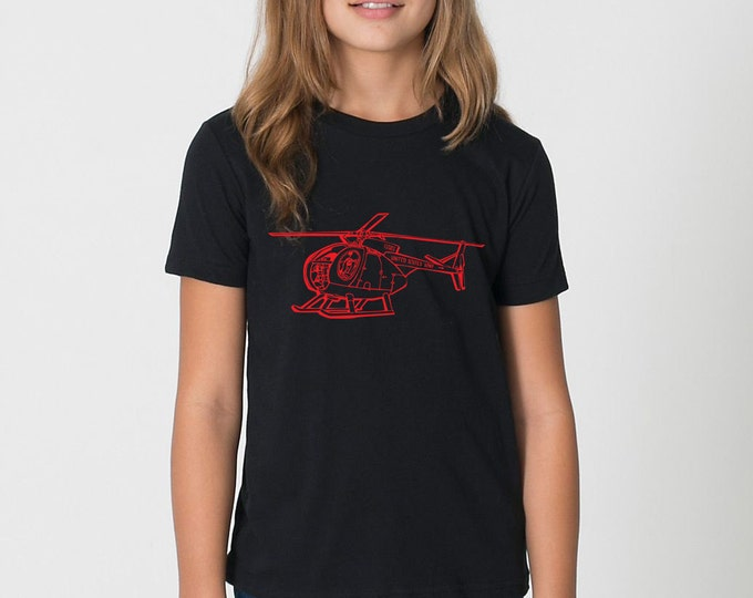 KillerBeeMoto: Hughes OH-6A Cayuse Helicopter Short & Long Sleeve Shirt Cartoon Style