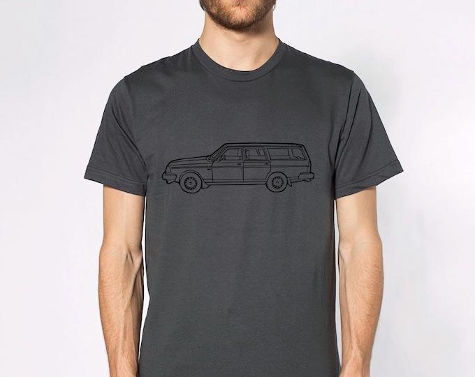 KillerBeeMoto: Limited Release Boxy Yet Safe Swedish Station Wagon Short & Long Sleeve Shirt Cartoon Version