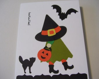 Cute Halloween Witch Card - Stampin up